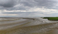 Nieuwe Statenzijl panorama during low tide