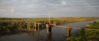 Working on Saltmarsh Tidal Twins - East meets West on a bridge in the Frisian wetlands.
